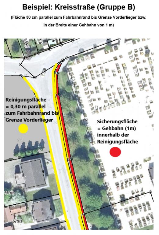 Reinigungs- und Sicherungsverordnung, Beispiel Kreisstraße