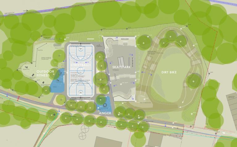 Bild Entwurf Sportpark an der Vilsaue